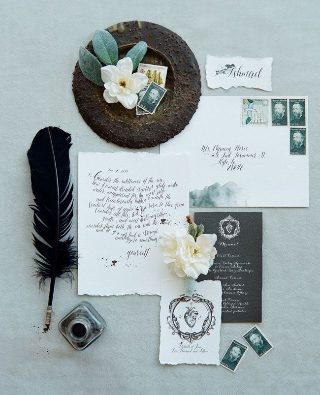 gray and white calligraphy: