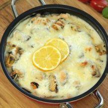 Ma recette du jour : Gratin de moules à la tomate  sur Recettes.net