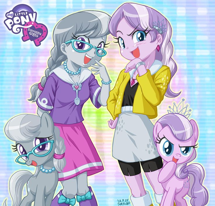 Equestria Girls Silver Spoon and Diamond Tiara by uotapo.deviantart.com on @deviantART