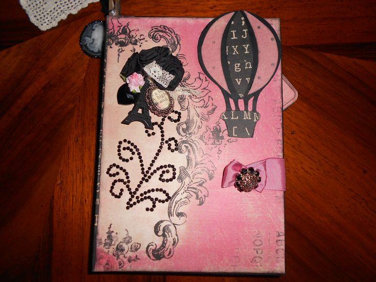 mini album Romance novel hand made by Paola Botero