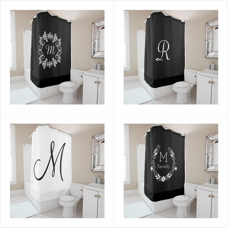 Monogrammed Shower Curtains The Perfect Choice For An Unique Bathroom Decor Personalize Initial Curtain Exclusive Look