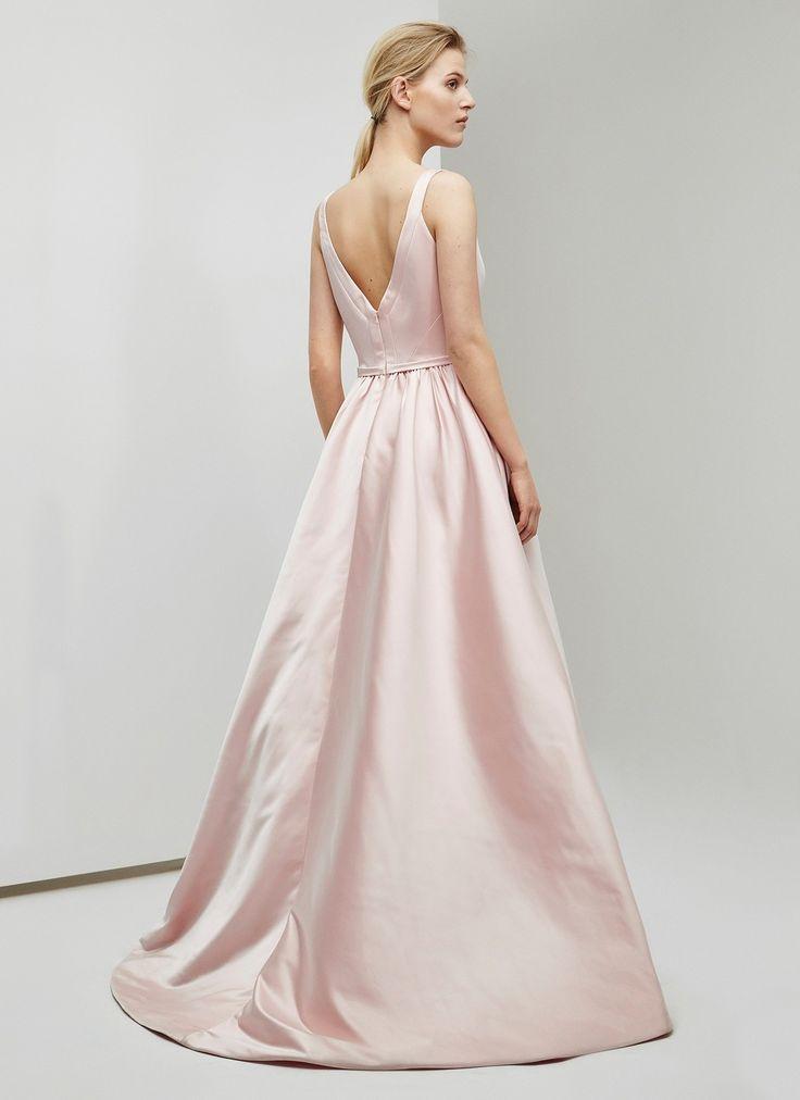 Vestido largo con volumen - Vestidos | Adolfo Dominguez shop online
