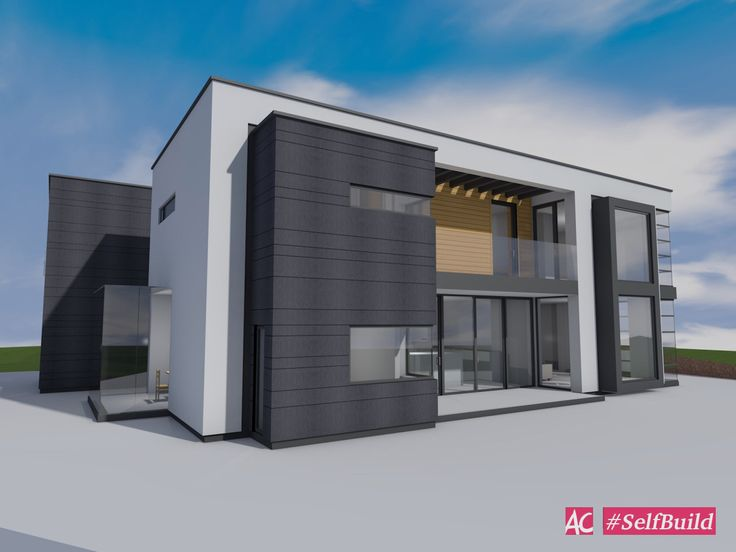 Modernist Self Build House, Aberdeen. Eco House, SIPs, 3D Modelling Software.