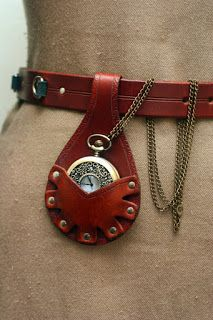 Leather Pocket Watch Holster