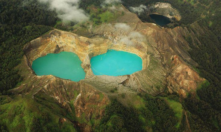 The Three Coloured Lake, Kelimutu. Located in Ende-Flores, East Nusa Tenggara.