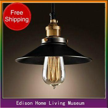 медное основание одного шнура подвесной светильник кафе-бар освещение старинных абажур с лампы Эдисона и бесплатной доставкой