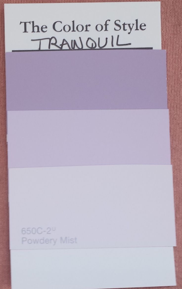 Tranquil Colors My Tranquil Colors Behr 650D4 Winter Amethyst Behr 650C3 Light