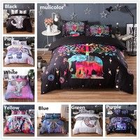 Wish | ANN/bedding sets 3d bedclothes black duvet cover sets king/queen size bed linen sets bed set