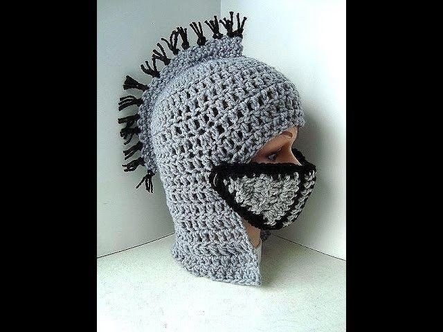 DIY knight's helmet hat free crochet pattern, King Arthur's Court, VIKING HAT, Gladiator