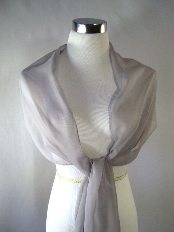 Evening Wrap Medium Gray Shawl Scarf Stole One