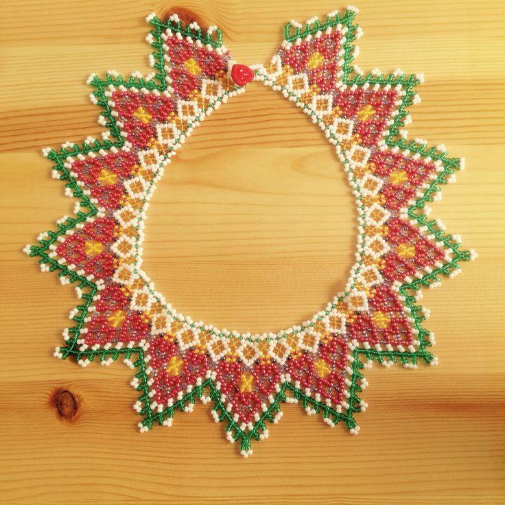 Necklace made by Heidi Lund Bjerregaard, Greenland.