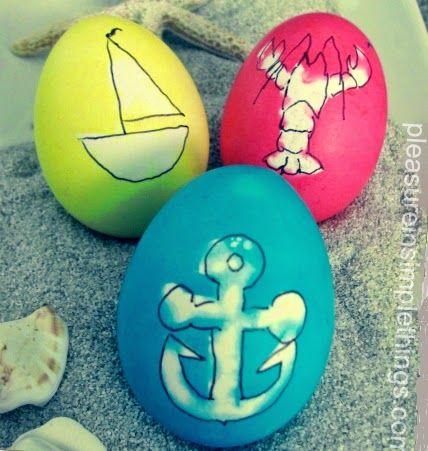 Coastal & Nautical Easter Eggs from completely coastal