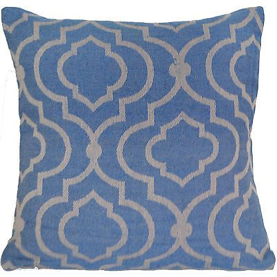 Sofa-Scatter-16-40cm-Blue-Beige-Cushion-Covers-100-Cotton-Machine-Washable