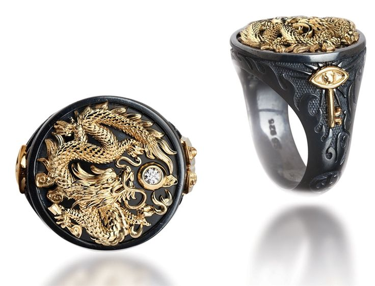 Captain collection dragon ring by Galatea Jewelry