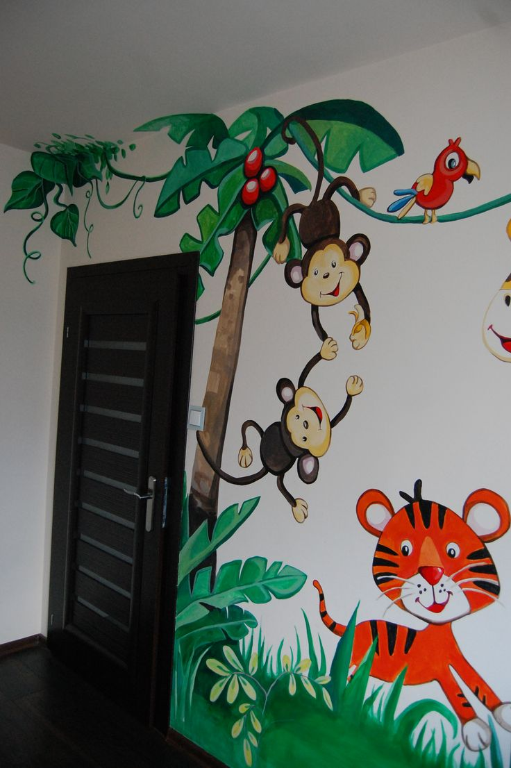 57 best murals done by colour my walls images on pinterest it s a monkey business jungle mural