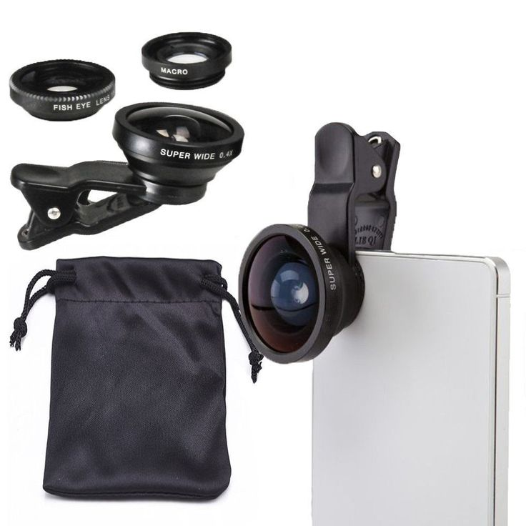 3 in1 Wide Angle+180° Fisheye+Macro Photo Lens For Mobile Cell Phone  #LIEQI