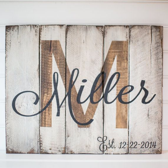 Wood Sign Design Ideas wood sign design ideas Last Name With Est Date Rustic Wooden Sign Made From Reclaimed Pallet Wood