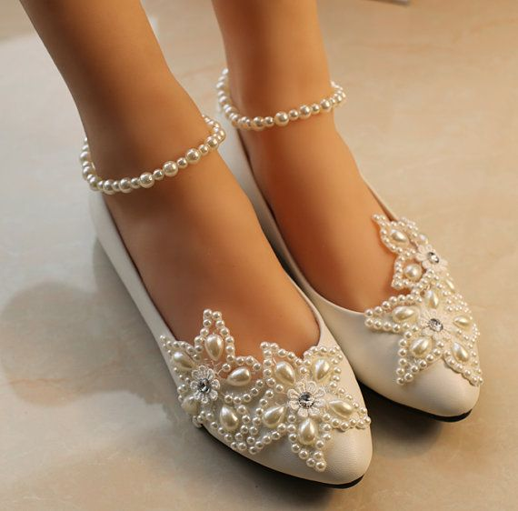Hey, I found this really awesome Etsy listing at https://www.etsy.com/listing/202973168/ballet-flat-wedding-shoes-lace-bridal