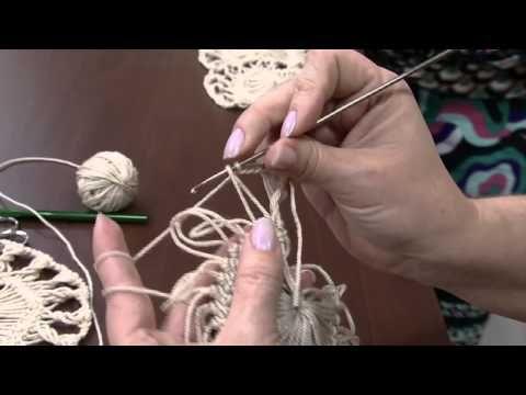 Mulher.com 04/06/2014 - Blusa Marrom Croche Grampo por Helen Mareth - YouTube