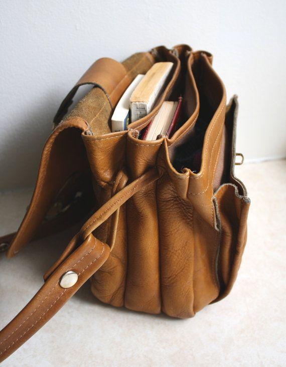 etsy vintage leather purse