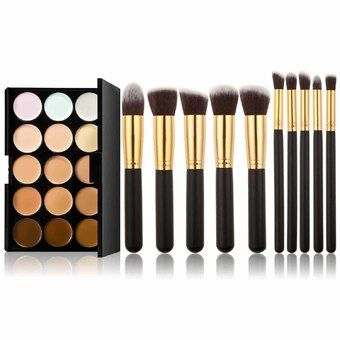Buy New 15 Colors Makeup Concealer Palette 10pcs Brushes Set Gold Black online at Lazada. Discount prices and promotional sale on all. Free Shipping.