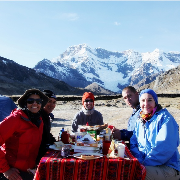 Breakfast in the Andes