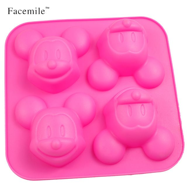 Mickey Jelly Chocolate Silicone Mold Ice Cube Mold Silicone Ice Tray Fruit Ice Cube Maker Bar Kitchen Accessories 01042