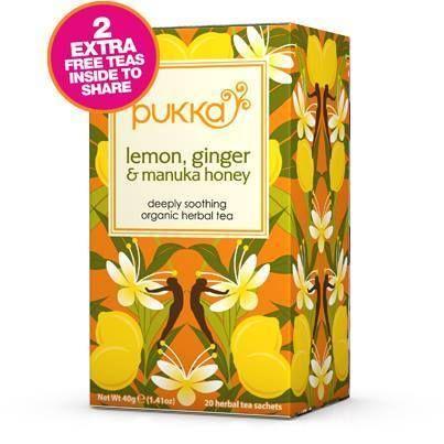 Pukka Herbs Lemon Ginger Manuka Honey Tea. Organic & Delicious   My Natural Necessities