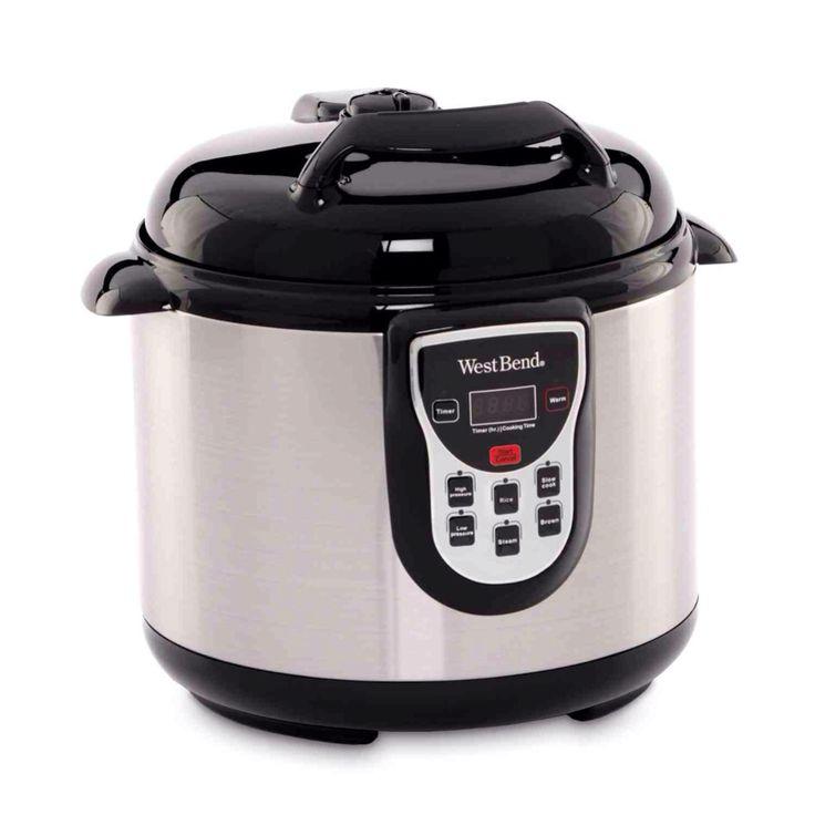 Black 6 Quart Programmable Digital Non Stick Insert Electric Pressure Cooker
