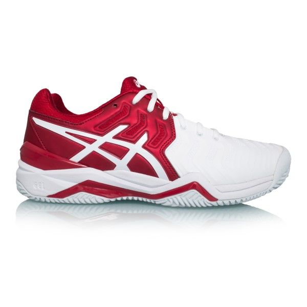 Asics Gel Resolution 7 Clay Novak Djokovic Mens Tennis Shoes Red White Silver Mens Tennis Shoes Tennis Shoes Novak Djokovic