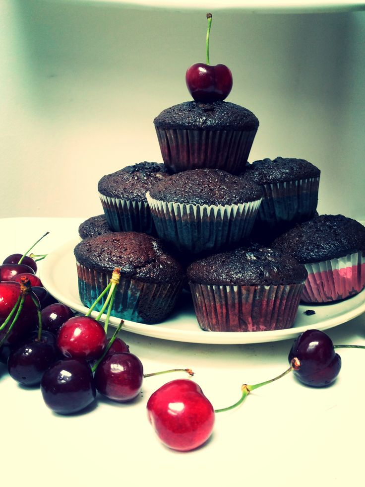 Triple chocolate muffins by Kat Zet