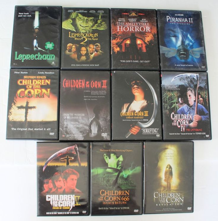 DVD Lot Action 11 Movies Horror Scary Children of the Corn Series Leprechaun