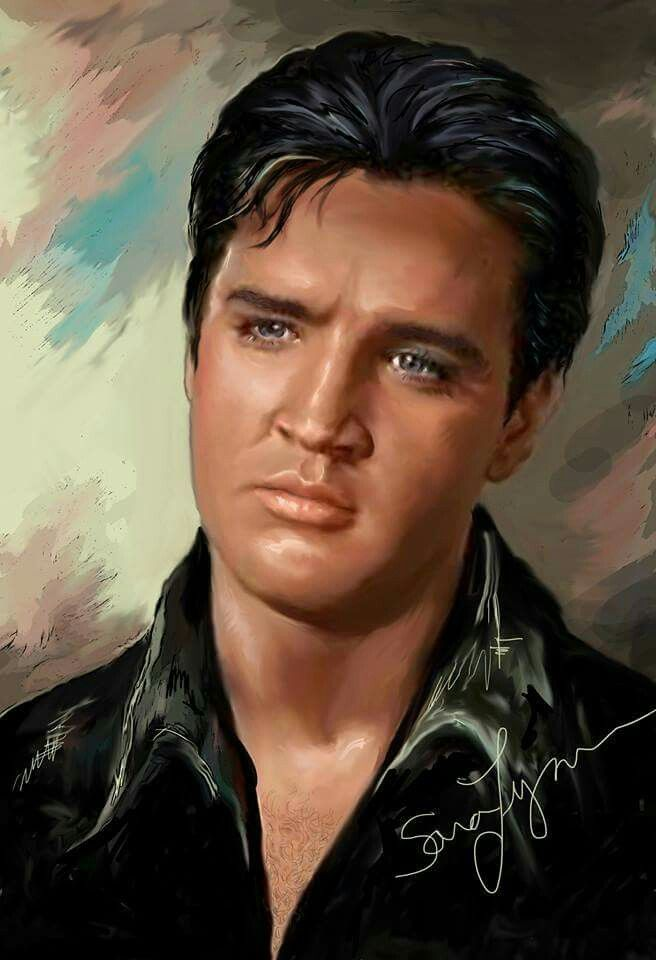 Elvis Presley, The King Lives On, Rare Poster 1977, In ...  |1977 Elvis Painting