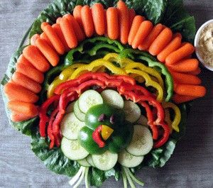 10 Creative Vegetable Trays - Pumpkin Vegetable Tray - like this idea