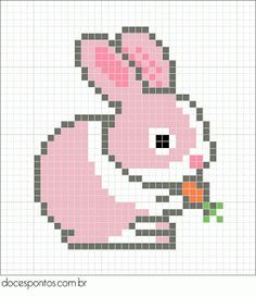 Bunny perler bead pattern, website not in English but pattern is easy to follow.