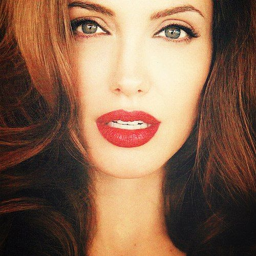 Perfect makeup with red lips
