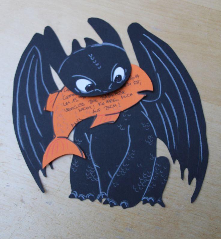 Dragons inspired Einladungskarte Ohnezahn