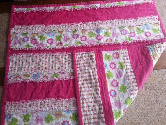 Adorable Flannel rag quilt by ShockingCrafts on Etsy, $35.00