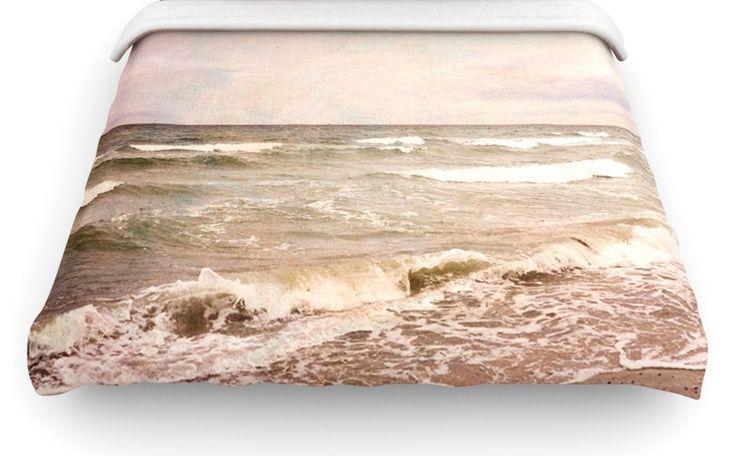 """Romantic Sea"" Beach Woven Comforter Duvet Cover | Wayfair"
