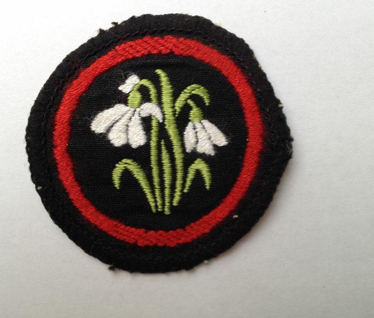 Girl Guide Snowdrop Patrol Badge (me 1988 !)