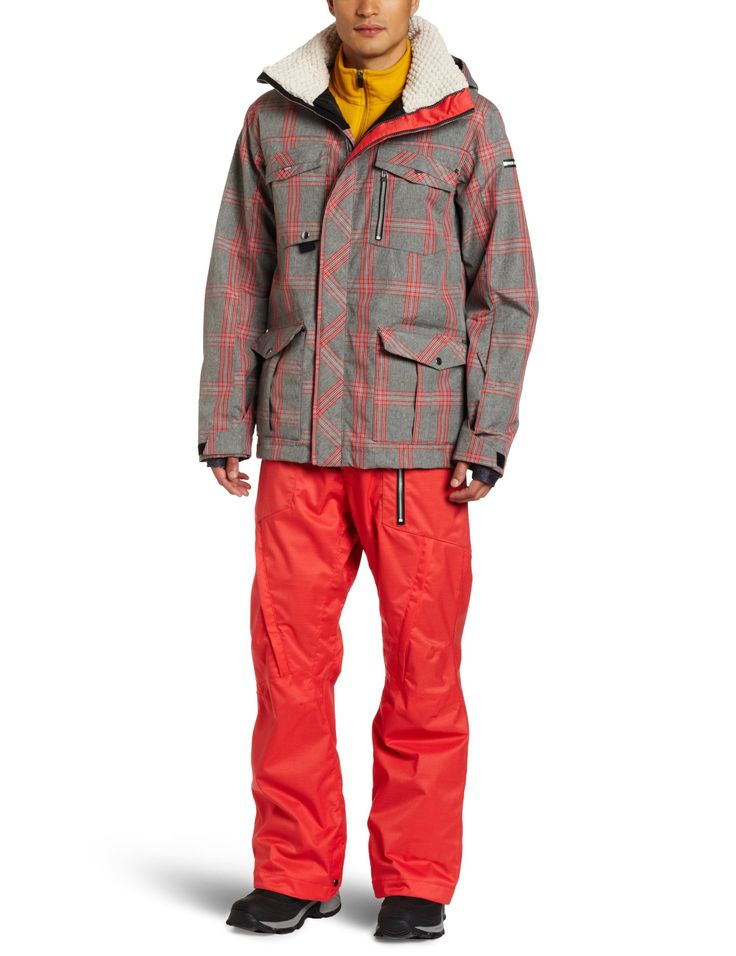 Ride Snowboards Men's Sodo Jacket, Faded Grey Plaid, Large