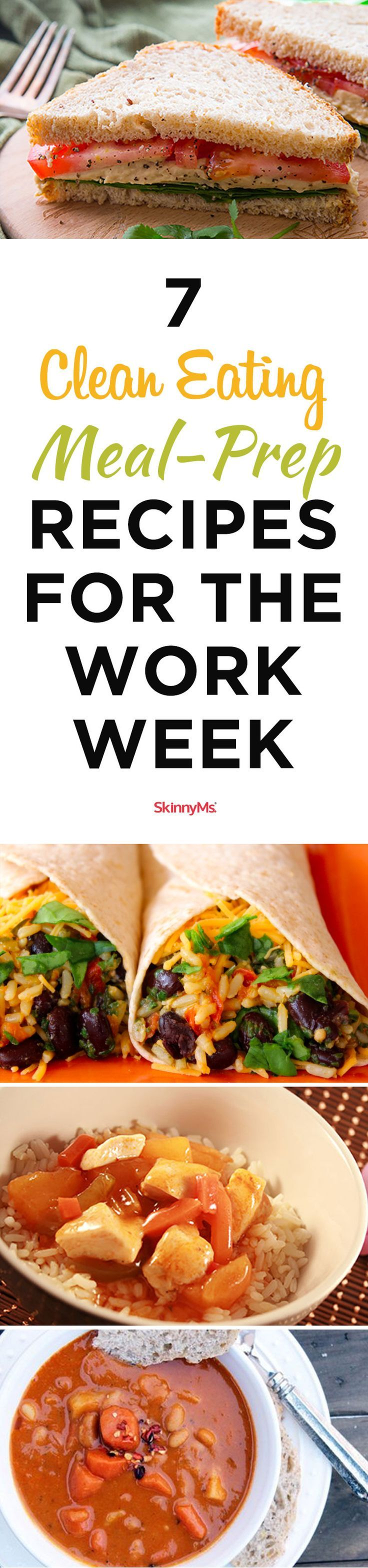 7 Clean Eating Meal-Prep Recipes for the Work Week #sundaymealprep #workweek #recipes #cleaneating #mealprep