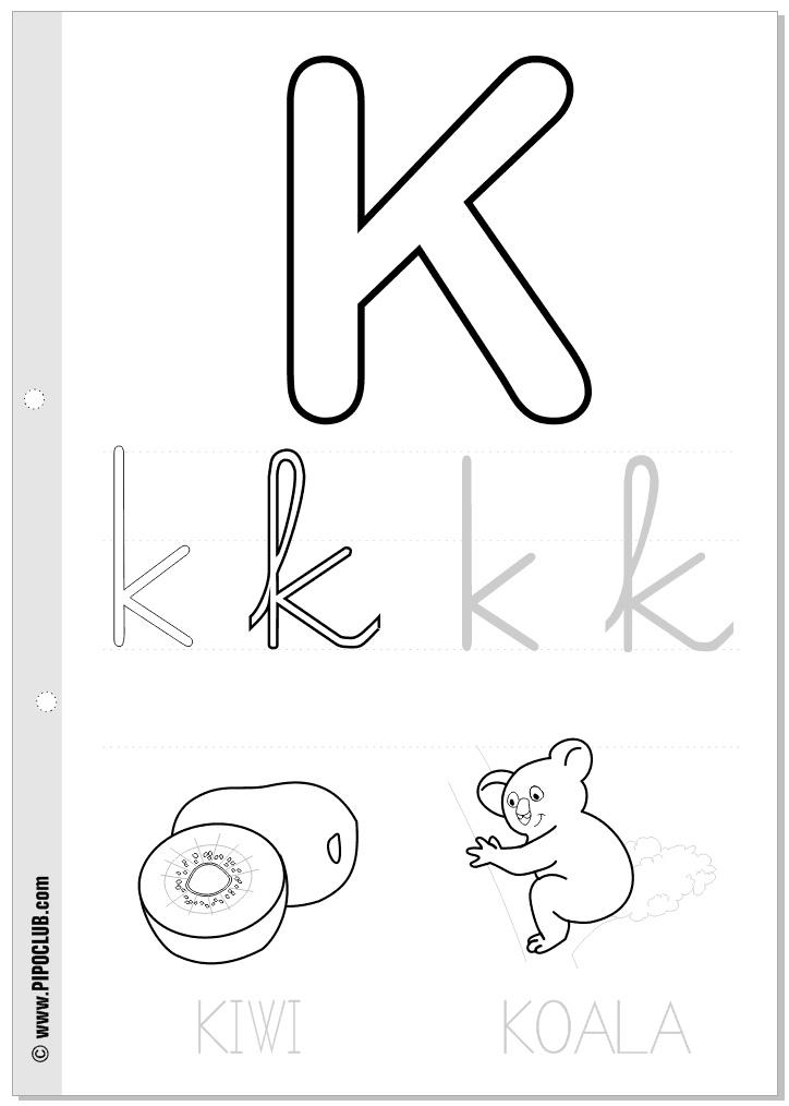 Letra K   Trabajos niños   Pinterest