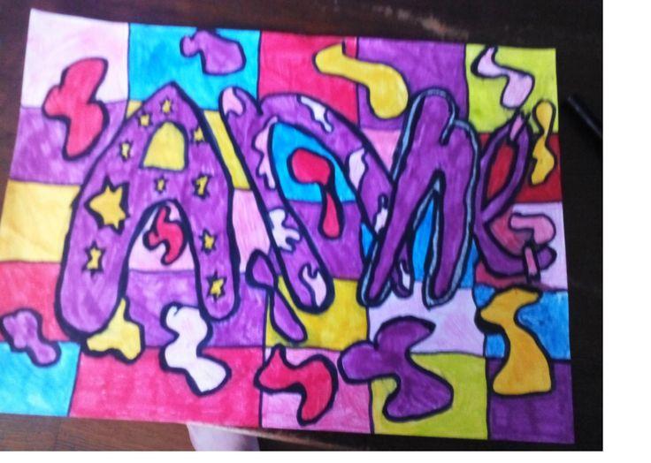 Mijn naam tekening, KUNST