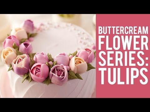 How to Decorate A Buttercream Cake Using Only Tip #352 - YouTube