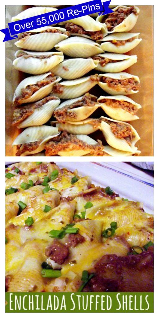 Enchilada-Stuffed-Shells  http://www.lifewiththecrustcutoff.com/enchilada-stuffed-shells/
