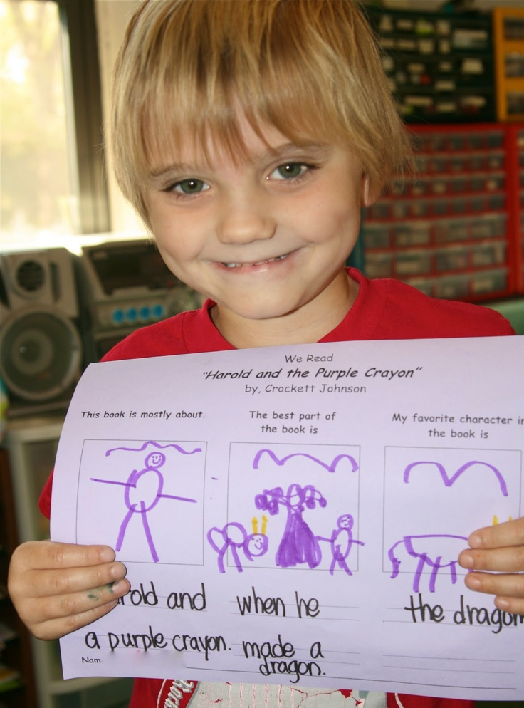 Harold and the Purple Crayon - writing