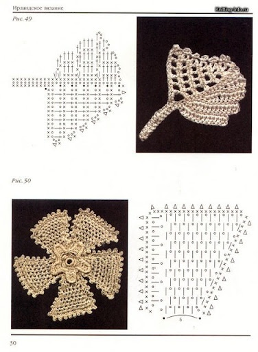 Crochet Chart: Crochê Irlandê, Crochet Flowers, Irish Crochet, B Fiorifogliecuori, Freeform, Crochet Irish, Crochet Irlandé, Koronka Irlandzka, Crochet Patterns