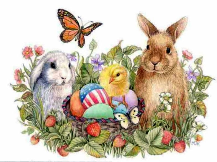 Открытки на пасху с кроликом, позитивные