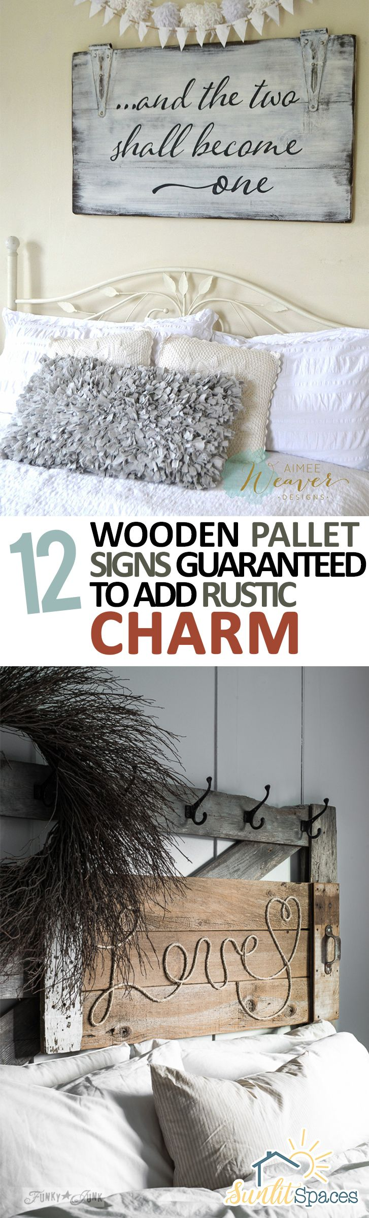 Wooden pallet craft projects - 12 Wooden Pallet Signs Guaranteed To Add Rustic Charm